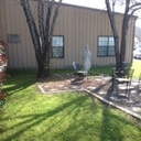 The Prayer Garden outside one of the 3 resident homes provides a place of solitude and peace.